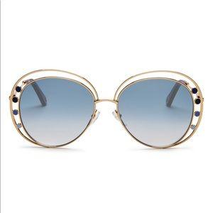 Chloe delilah double rimmed sunglasses 57mm